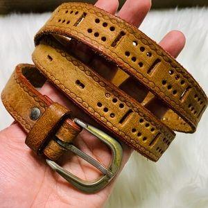 Vintage Leather Boho Belt
